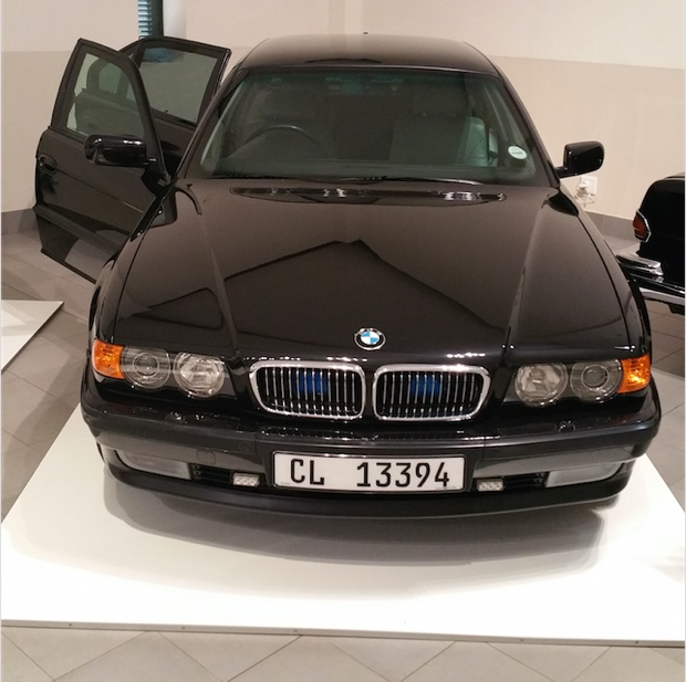Nelson Mandels's BMW 7 Series Security Edition, Franschhoek Motor Museum