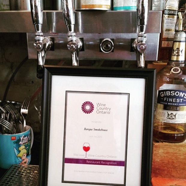The pioneer for #vqa #wineontap feel good recognition from @winecountryont Thank you from @barquebbq #ontariowineweek #ontwine #drinkontario #pourontario