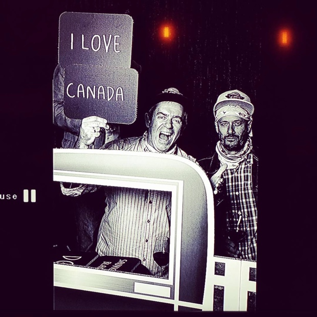This guy loves Canada @WOSA_ZA #DGBinthewinelands #foodtrucks
