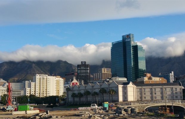 Table Mountain behind the clouds, Cape Town