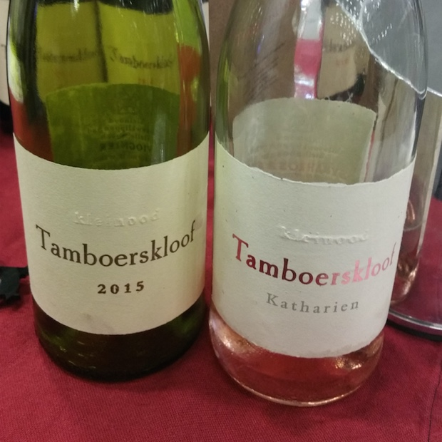 Tamboerskloof Viognier 2015 and Shiraz Rosé Katharien 2015