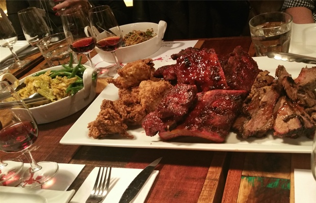 Barque Butcher Bar Fried Chicken, 'Bama Baby Back Ribs and 12-Hour Beef Brisket