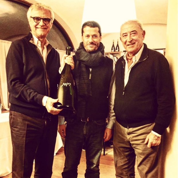 Standing with giants @BellaVistaVino Winemaker Mattia Vezzola and Vittorio Moretti.