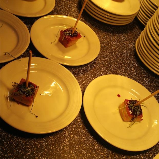 pork belly 'Lollipops' from Vintage Inn – Escabeche Chef Chris SmythP
