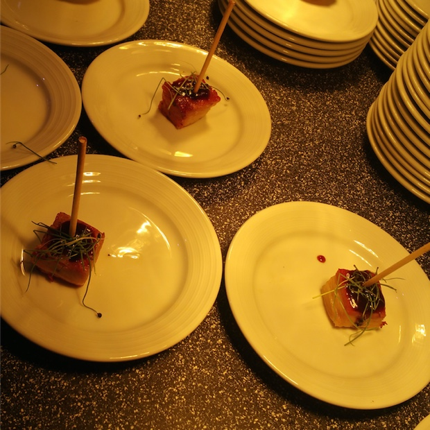 pork belly 'Lollipops' from Vintage Inn – Escabeche Chef Chris SmythP