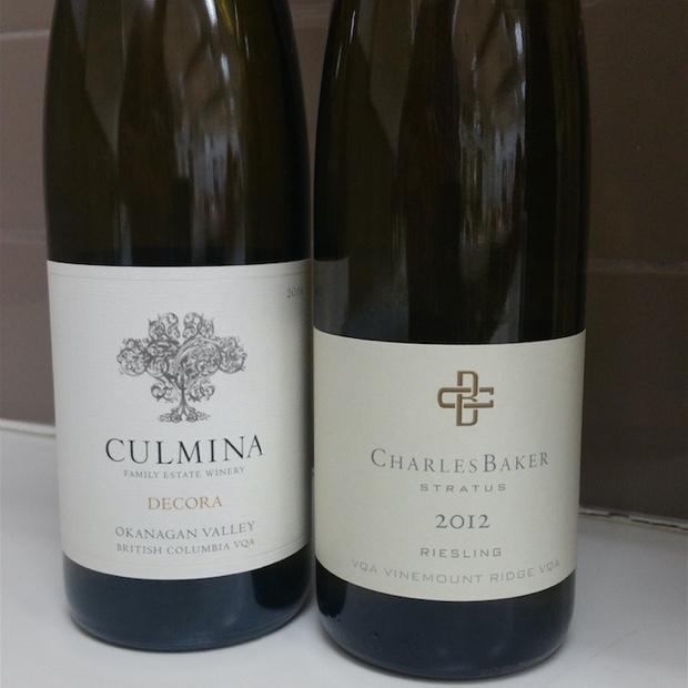 Riesling squared- Culmina Decora 2013 and Charles Baker Picone 2012