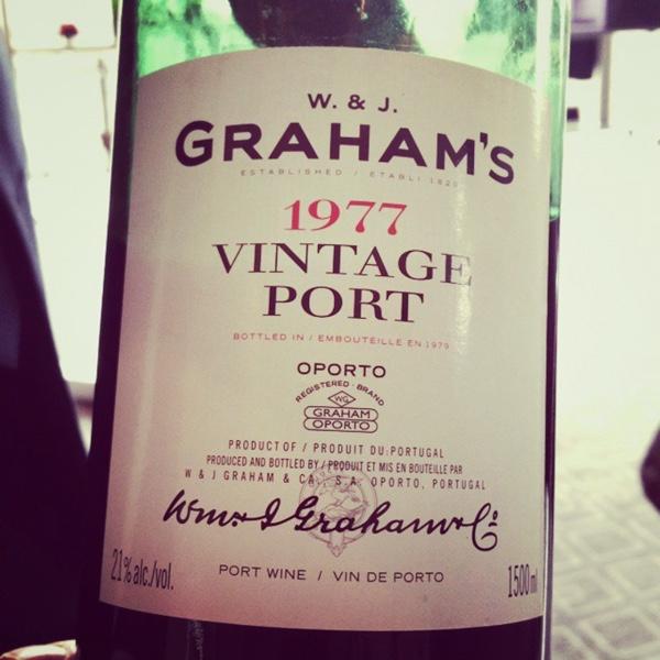 1977 @grahams_port...Oh to live to 111 and re-taste in 2077. @PFvini #symington #symingtonfamilyestates #rupertsymington #port #vintageport #primumfamiliaevini