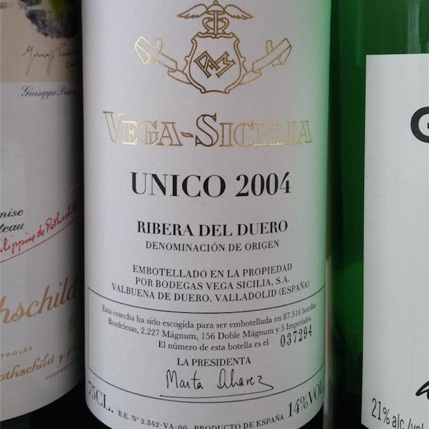 Vega-Sicilia Único 2004