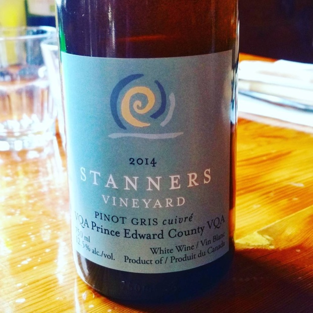 It's not what you think but it's just what you imagine @Stannerswines @GroupeSoleilTO @therealbenhardy #PinotGris #cuivre #skincontact #pecwine #princeedwardcounty