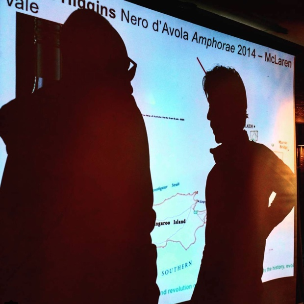 Shadow puppets @chefcmcdonald and @johnszabo talkin' @Wine_Australia #SavourAus