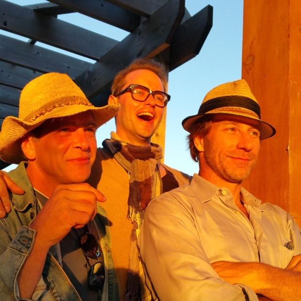 Tres hombres in @TheGoodEarthTweets light @johnszabo @billzacharkiw @bradroyale #NWAC15 #beerdrinkersandhellraisers