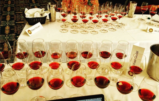 Finals of 24 #pinotnoir in three flights. Mountain tea for all #nwac16 @winealign National Wine Awards of Canada