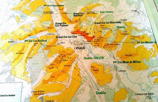 Map of Chablis