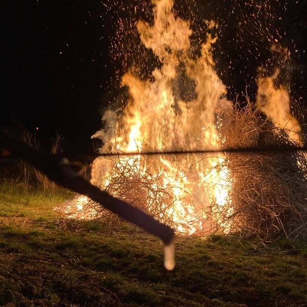 Fires in the vineyard, Villa Le Corti, San Casciano (c) Duccio Corsini